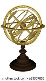Antique celestial sphere - 3D render