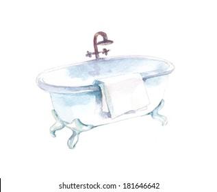 Antique claw-foot bathtub