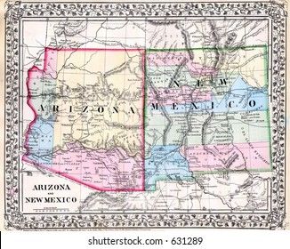 1000+ Old New Mexico Map Stock Images, Photos & Vectors ...