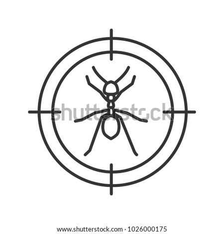 Ants Target Linear Icon Insects Repellent Stock Illustration