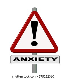 anxiety, road sign