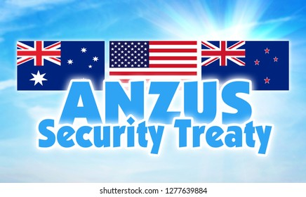 ANZUS, Security treaty. Union between Australia, New Zealand and United States of America