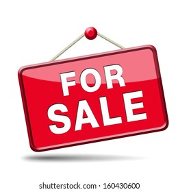 apartment or house for sale banner, selling a room or flat or other real estate sign. Home to let icon.