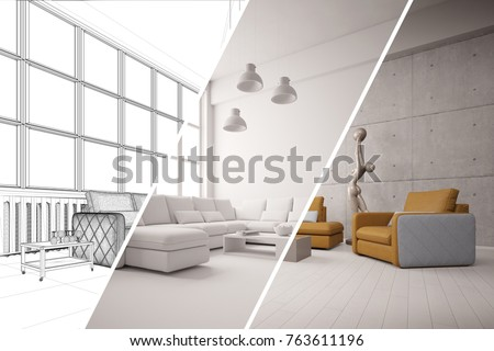 Apartment Room Planner CAD Interior Design Stock Illustration ...
