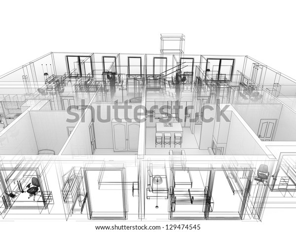 Apartments Level Top View Building Design | Royalty-Free Stock Image