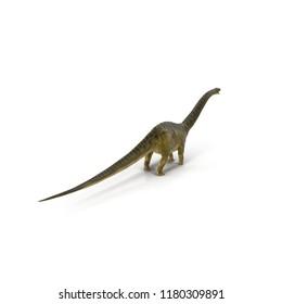Apatosaurus Dinosaur model on white. 3D illustration