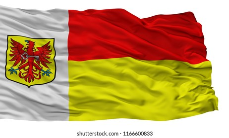 Apeldoorn City Flag, Country Netherlands, Isolated On White Background, 3D Rendering