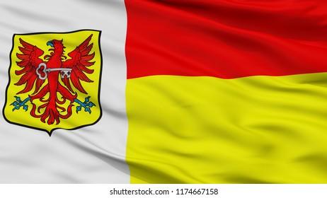 Apeldoorn City Flag, Country Netherlands, Closeup View, 3D Rendering