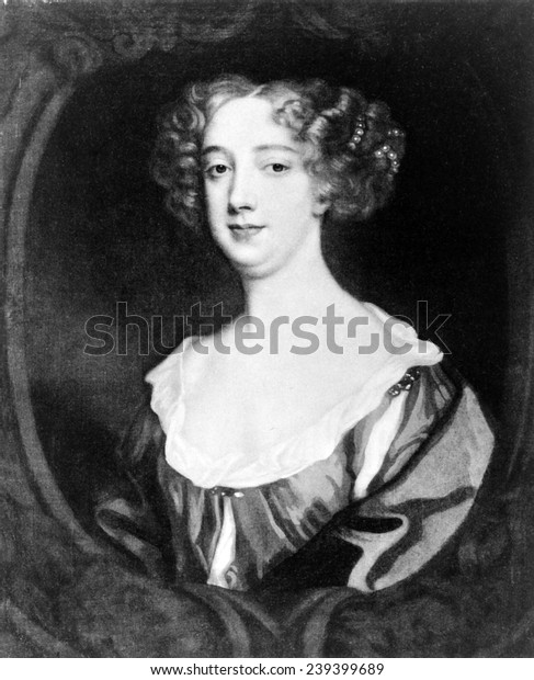 Aphra Behn (1640-1689), English novelist, playwright, and poet, the first known professional English female writer.