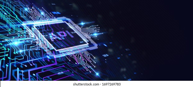 API - Application Programming Interface. Software development tool. Business, modern technology, internet and networking concept 3d illustration, 3d rendering