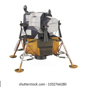 Apollo Lunar Module Isolated. 3D rendering