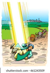 The Apostle Paul was illumined by a bright Light on the Road to Damascus