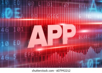 App abstract concept red text red background