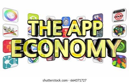 Micro Marketing Apps Programs 3 D Illustration Stock Illustration
