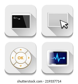 app icons, illustration of application icons set