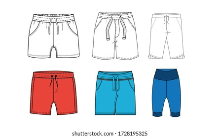 apparel fashion shorts pants illustration