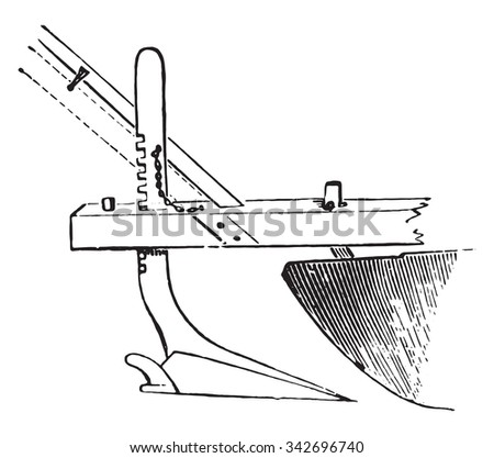 Royalty Free Stock Illustration Of Appendix Plow Under Chisel Plow