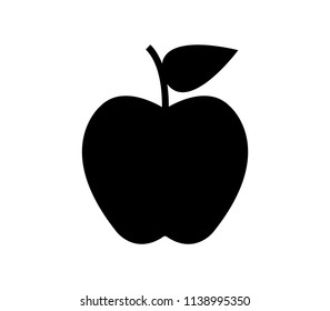 apple icon on white background