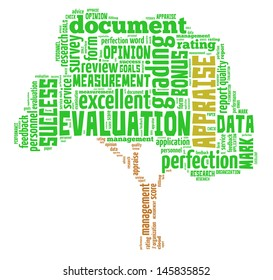 Appraisal info-text graphics and arrangement concept (word cloud) in white background
