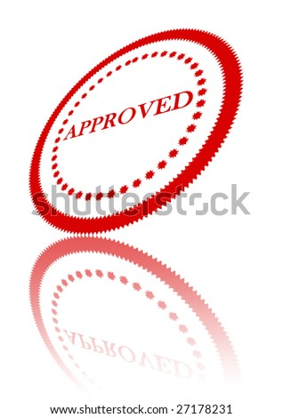 approval stamp on solid white background stock illustration 27178231
