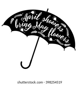 April showers bring May flowers design  royalty free stock illustration