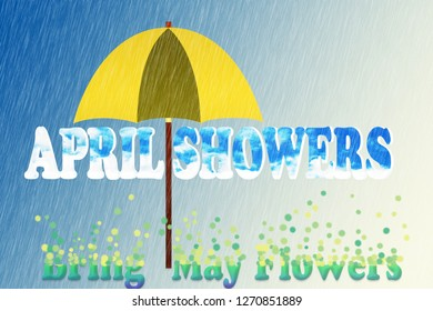 April showers brings may flowers background; Spring background