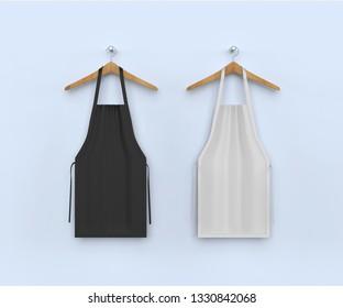 aprons, apron mockup, clean apron . 3d illustration