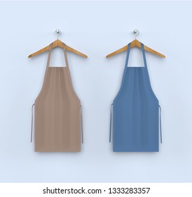 aprons, apron mockup, clean apron . 3d illustration