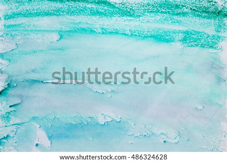 Aqua Blue Watercolor Background Illustration Water Stock