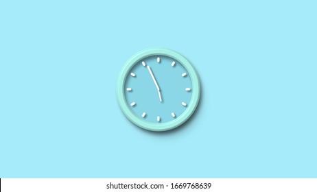 Aqua color wall clock icon,wall clock icon,clock image,Wall clock animation image