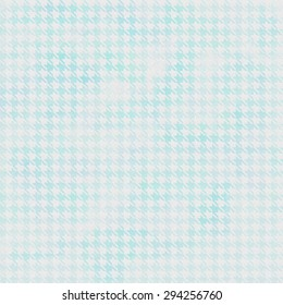 Aqua Watercolor Houndstooth Pattern