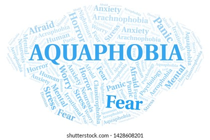Aquaphobia word cloud. Wordcloud made with text only.