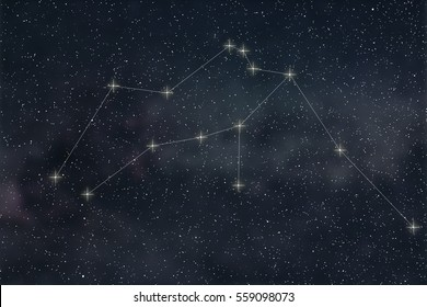 Aquarius Constellation. Zodiac Sign Aquarius constellation lines