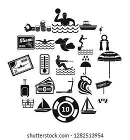 Aquatics icons set. Simple set of 25 aquatics icons for web isolated on white background