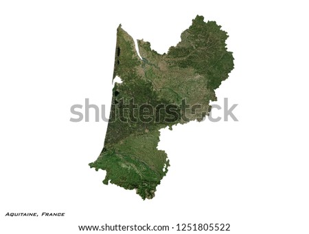 Royalty Free Stock Illustration Of Aquitaine France Map 3 D