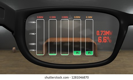 AR Glasses Electricity Blackout Charts