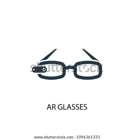 6cb6a6095c AR glasses icon. Simple element illustration. AR glasses concept symbol  design from Augmented reality