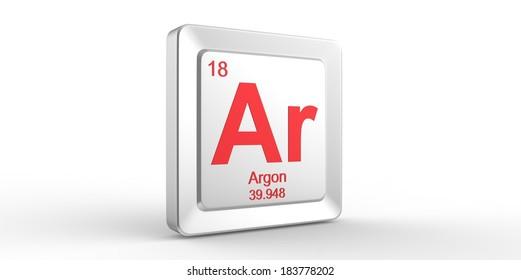 Ar Symbol 18 Material Argon Chemical Stock Illustration 183778202