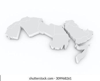 arab league 3D map