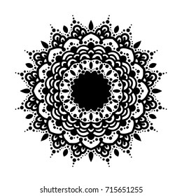 Arabesques black and white color. Elegant template for engraving, embroidery, burning out on a tree and other creative. Logo eco style.