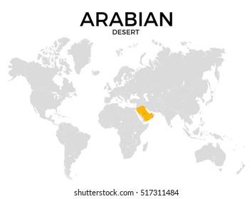 Deserts World Map Images, Stock Photos & Vectors | Shutterstock