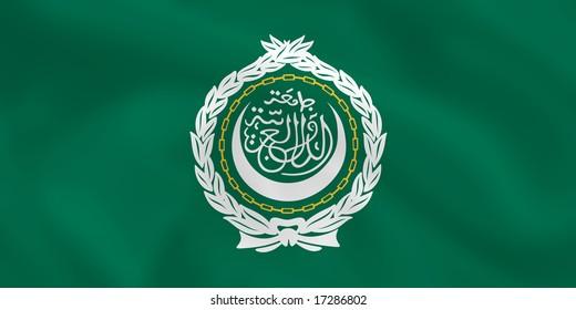 Arabian league waving flag