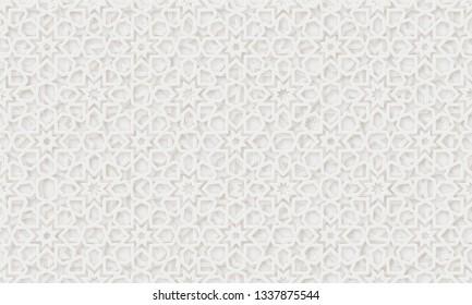 Arabic pattern background. Islamic ornament . Geometric 3d shape. Texture arabian traditional motif