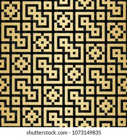 Arabic seamless pattern with 3D effect for the festive design of the brochure, website, print. illustration