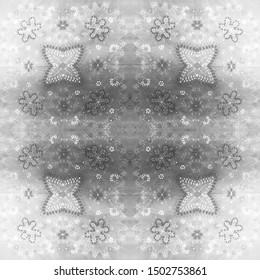 Arabic Tile Pattern. Anthracite Arabesque Elements. Misty Gray Flowers Porcelain. Charcoal Seamless Oriental Pattern. Dark Opal Spanish Prints. Smoky Gray Tribal Mirror Tile.
