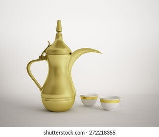 arabic traditional coffee pot dallah