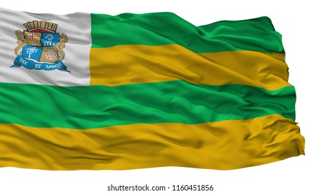 Aracaju City Flag, Country Brasil, Isolated On White Background