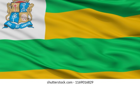 Aracaju City Flag, Country Brasil, Closeup View, 3D Rendering