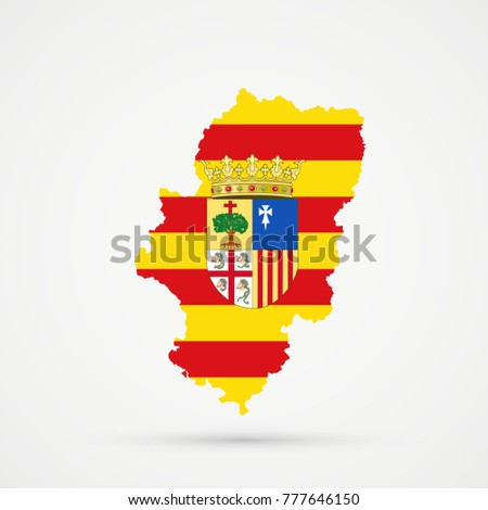 Royalty Free Stock Illustration Of Aragon Spain Map Aragon Spain