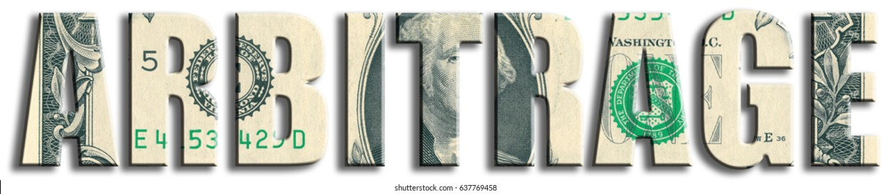 Arbitrage, style in trading or speculation. US Dollar texture.